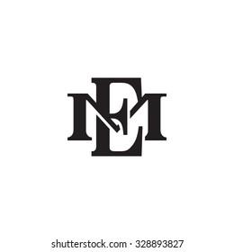 letter M and E monogram logo