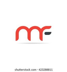 Letter M F Logo Icon Design Template Elements