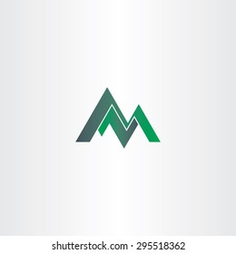 letter m green mountain and letter z or n design