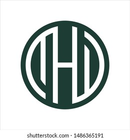 letter M H and W Vector logo.