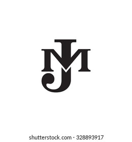 letter M and J monogram logo