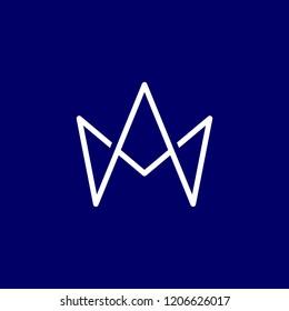 Letter A M King Logo
