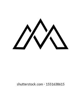 Letter M line logo design. Linear creative minimal monochrome monogram. Universal elegant vector sign design. Premium business logotype. Graphic alphabet symbol for corporate business identity simple