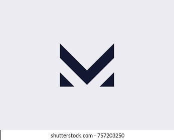Letter M line logo design. Linear creative minimal monochrome monogram symbol. Universal elegant vector sign design. Premium business  logotype. Graphic alphabet symbol for corporate business identity