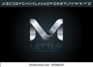 Letter M Logo, alphabet logo design.