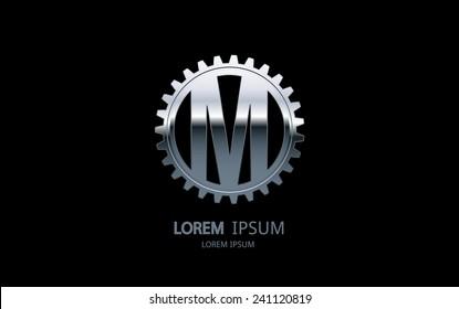 Letter M logo. Alphabet logotype vector design.