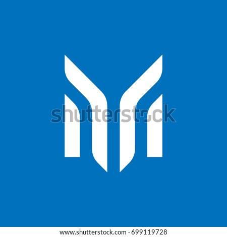 Letter M Logo Design Stock Vector Royalty Free 699119728