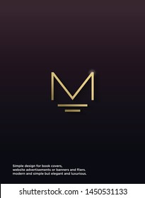 The Letter M logo design with classic and modern concepts is put together into an elegant and simple design as well as luxury.