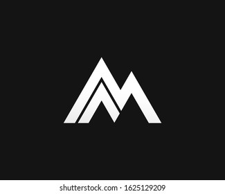 letter M logo, design m logo like mountain suitable for company or business outdoor or adventure area