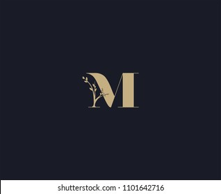 letter M logo design template. luxury logo