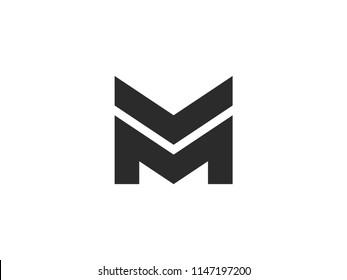 Letter M logo design template. Vector
