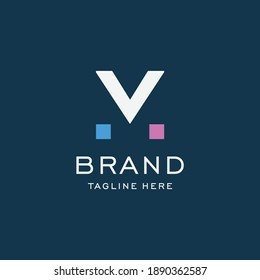 letter M logo design template elements