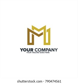 Letter M logo icon, Construction M logo template, MM logo icon