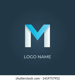 "Letter ""M"" logo isolated. Alphabet vector image"