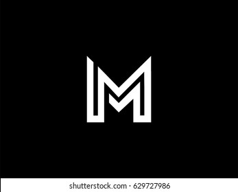 Letter M logo or MM initials two modern monogram symbol concept. Creative Line sign design. Graphic Alphabet Symbol for Corporate Business Identity. Vector illustration