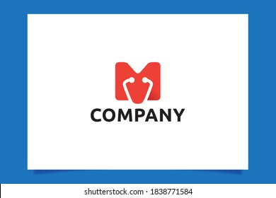 letter M Medical logo vector Graphic for any business especially for medical/health care, hospital, clinic, phramacy, etc.
