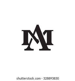 letter M and A monogram logo