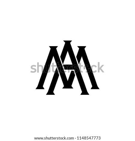 Letter M Monogram Logo Initial Logo Stock Vector Royalty Free