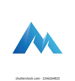 Letter M mountain