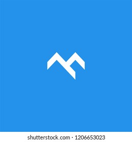 Letter M or mountain logo design