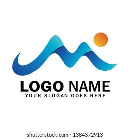 Letter M mountain logo vector, mountain symbol logo, creative illustration mountain
