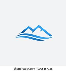 Letter M Mountain vector logo