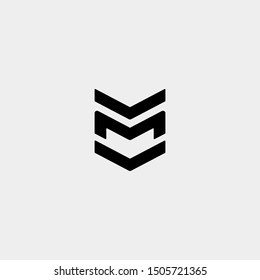 Letter M MW WM Monogram Logo Design Minimal Icon