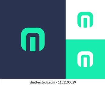 Letter m and n logo or mn initials two modern symbol concept. Creative line sign design. Graphic alphabet symbol for corporate business identity. Vector emblem