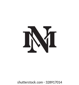 letter M and N monogram logo