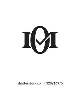 letter M and O monogram logo