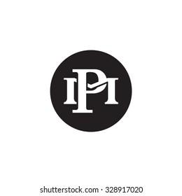 letter M and P monogram circle logo