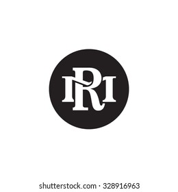 letter M and R monogram circle logo