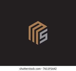 Letter M S logo template
