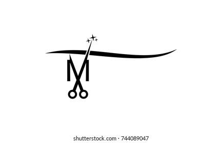 Letter M With Scissor
