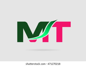 Letter M and T logo vector