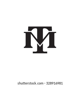 letter M and U monogram logo