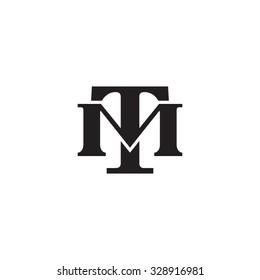 letter M and U monogram logo