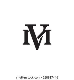 letter M and V monogram logo