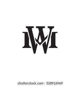 letter M and W monogram logo
