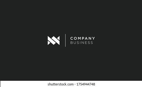 Letter M W MW WM logo design concept. Elegant vector logo template