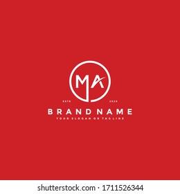 letter MA logo design vector template