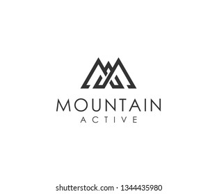 letter MA and mountain logo vector