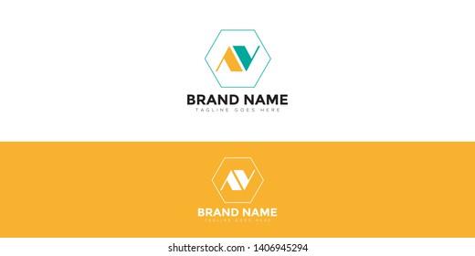 Letter Mark AV Logo for companies whose name initials are AV