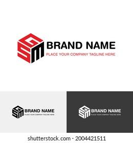 Letter mark logo template for GSM
