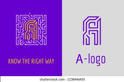 Vectores, imágenes y arte vectorial de stock sobre Maze Logo Vector