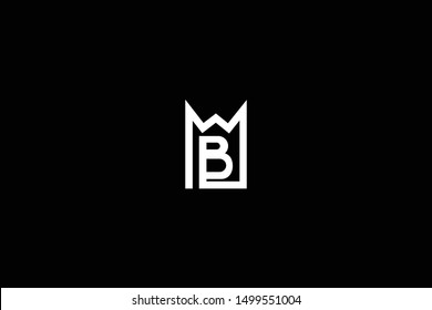 Letter MB BM M B House Logo Design. Initial Based Real Estate Business Icon Template