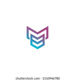 Letter MB logo with arrow shape icon design company. MB logo illustration vector template.