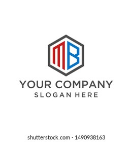Letter MB logo design vector for business company