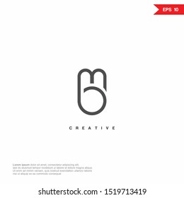 Letter MB modern Logo icon design. Premium Line Alphabet Monochrome Monogram emblem. Vector graphic design template element. Graphic Symbol for Corporate Business Identity.
