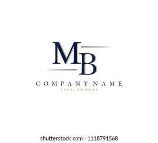 Letter MB Stylist Vintage Logo Design Template